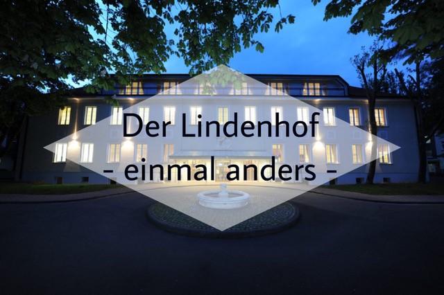 Nachtaufnahme von Hotel Lindenhof in Gotha.