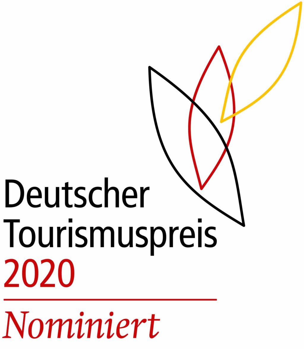 Logo zur Nominierung zum Deutschen Tourismuspreis
