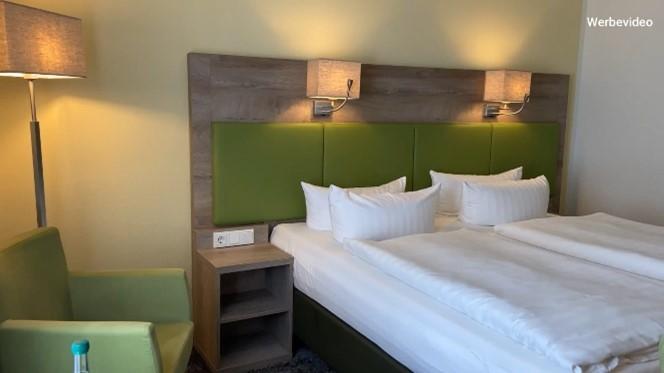 Zu sehen ist ein Doppelzimmer im Hotel Gabelbach.