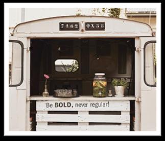 Foodtrucks im Vintage-Stil ermöglichen eine Vielzahl an Locations.