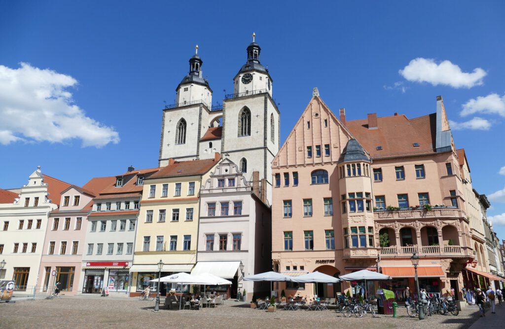 Zu sehen ist eine Stadtanschicht von Wittenberg.
