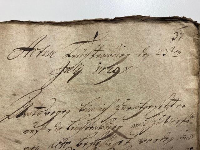 Bild eines historischen Dokuments mit altertümlicher Schreibschrift