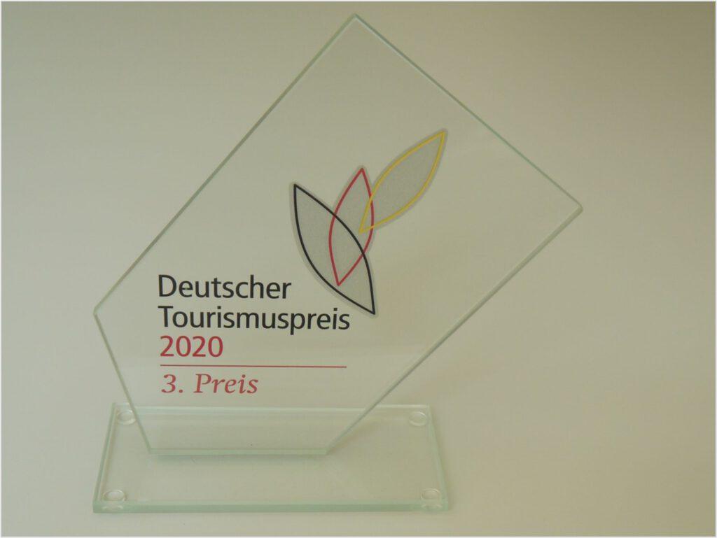 Bild von der Auszeichnung Deutscher Tourismuspreis 2020