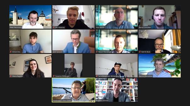 Screenshot der Videokonferenz zum Thema Umdenken